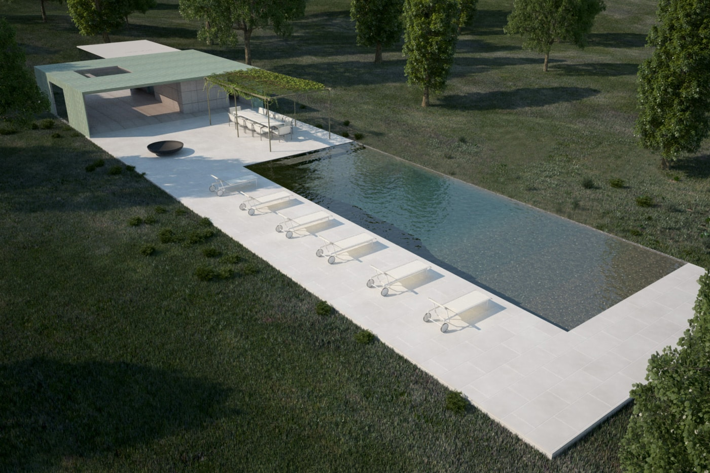 Shelter Island Pool Pavilion - project by Reddymade Architecture & Design