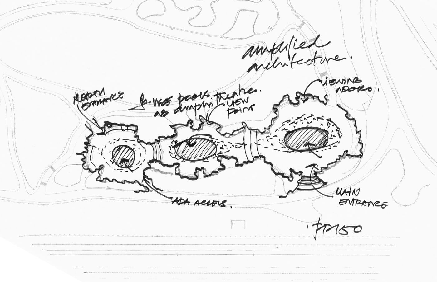 Process Sketch - The Connective Project - a collaborative project by Reddymade Architecture & Design